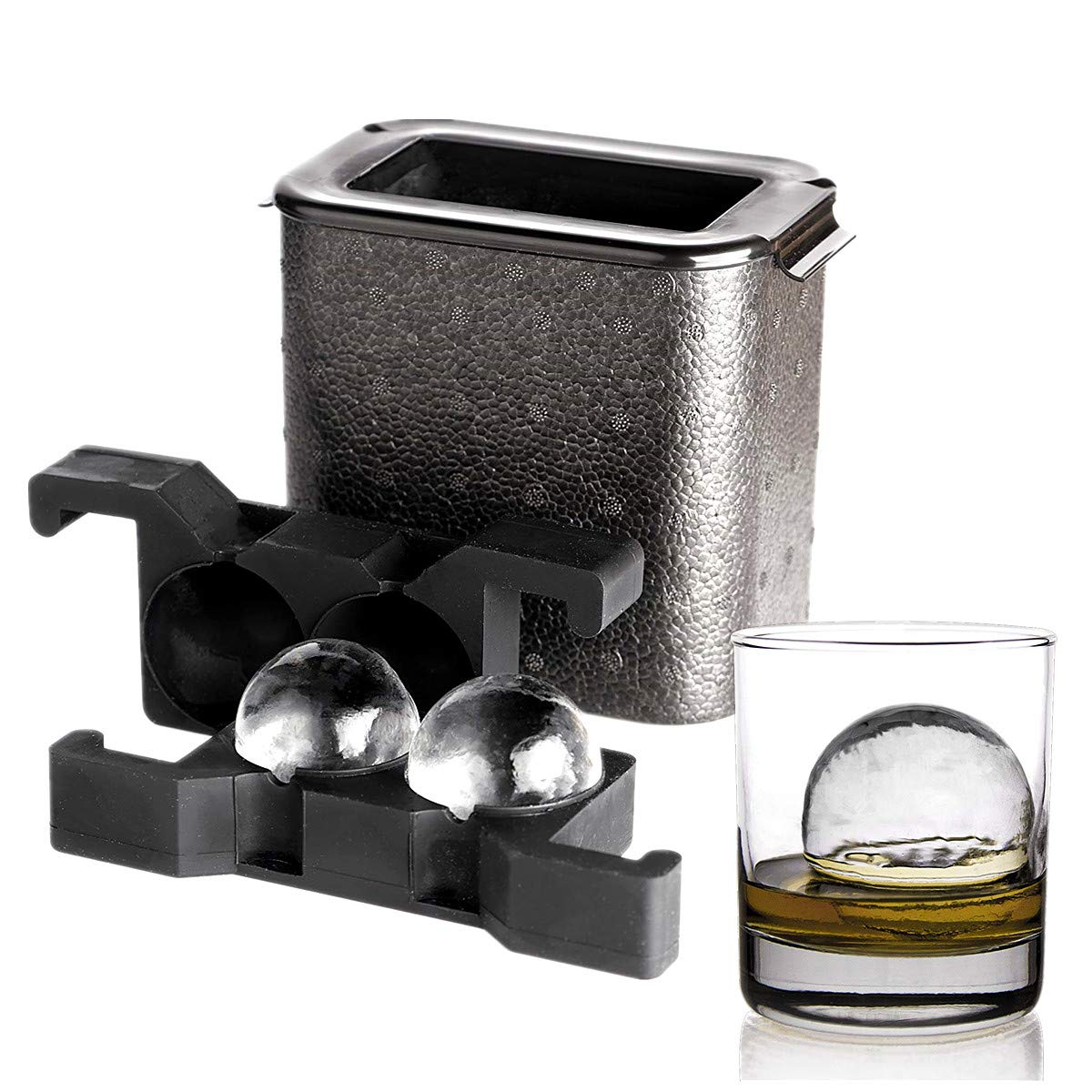 Crystal Clear Ice Ball Maker-glace boule sphérique whisky bac moule Maker