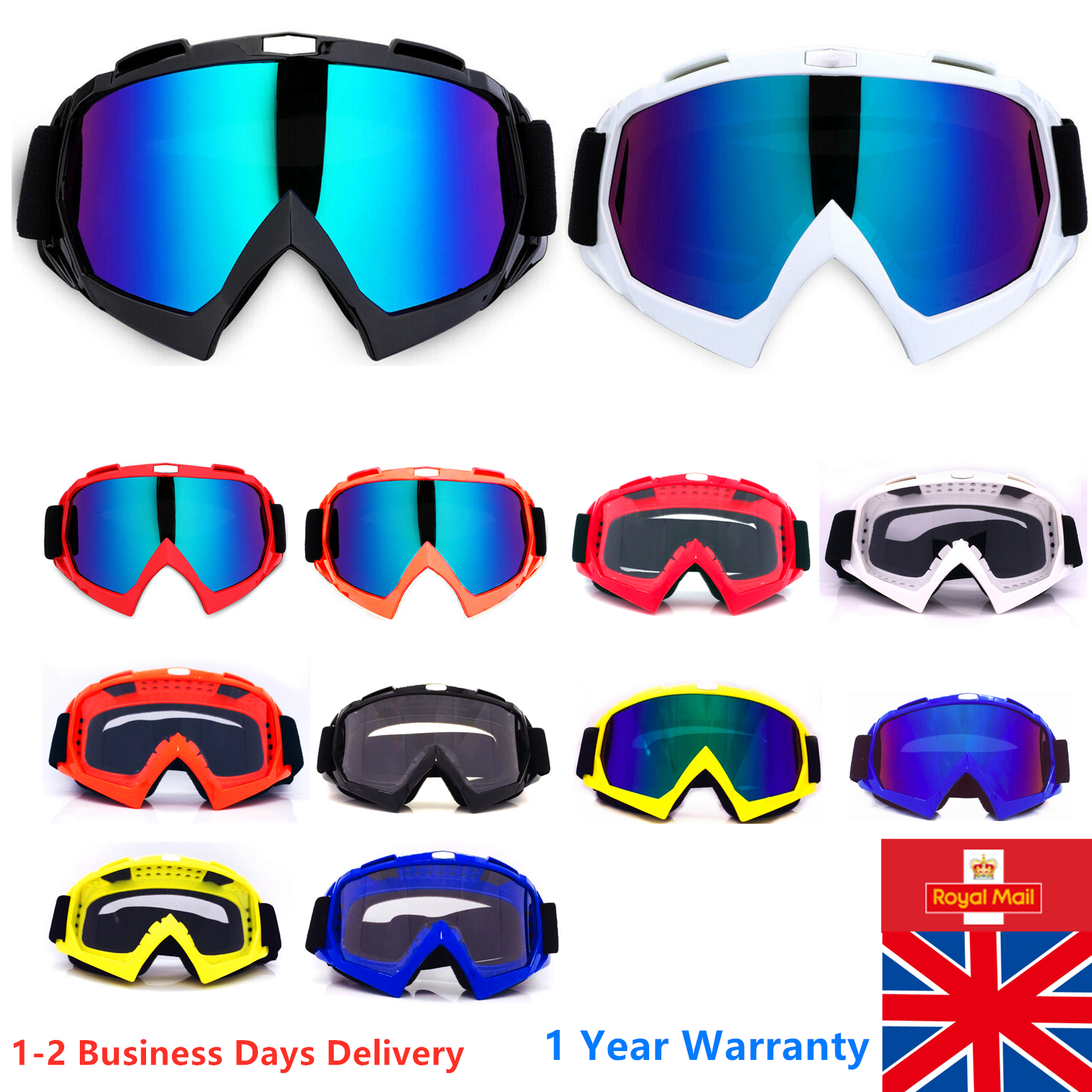 3A57 New Blue UV Protective Goggles Outdoors Motocycle Sports Cycling Sunglasses