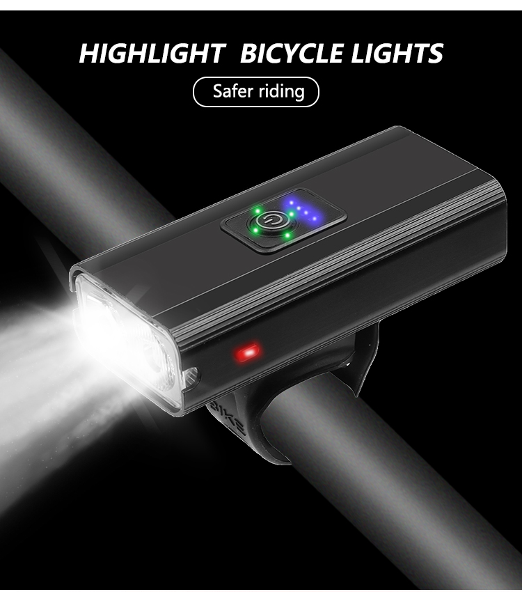 65000LM LED Bicycle Light USB Rechargeable Bicycle Flood Lamp Front Headlight
