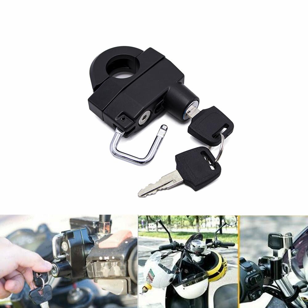 Universal Motorcycle 7//8/'/' 22mm Handlebars Helmet Lock Anti-theft Security Locks