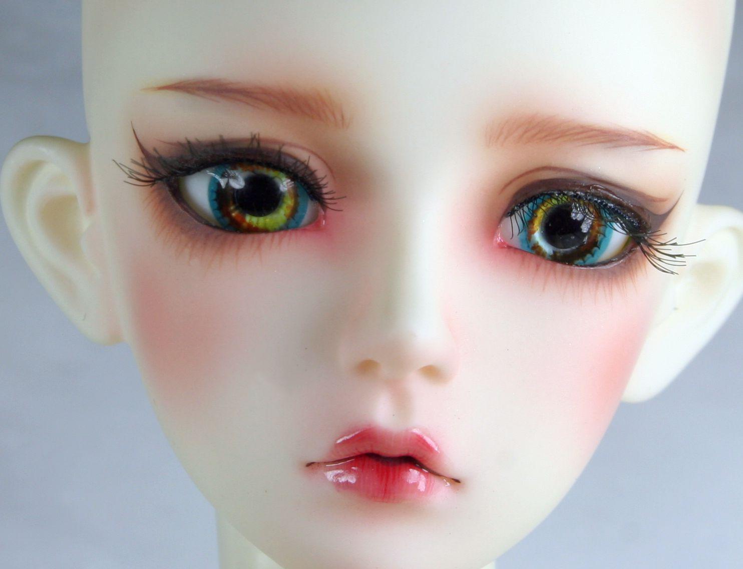 16mm Resin Eyes For 1//3 1//4 1//6 BJD Doll Doll Dollfie Handmade Human iris Blue