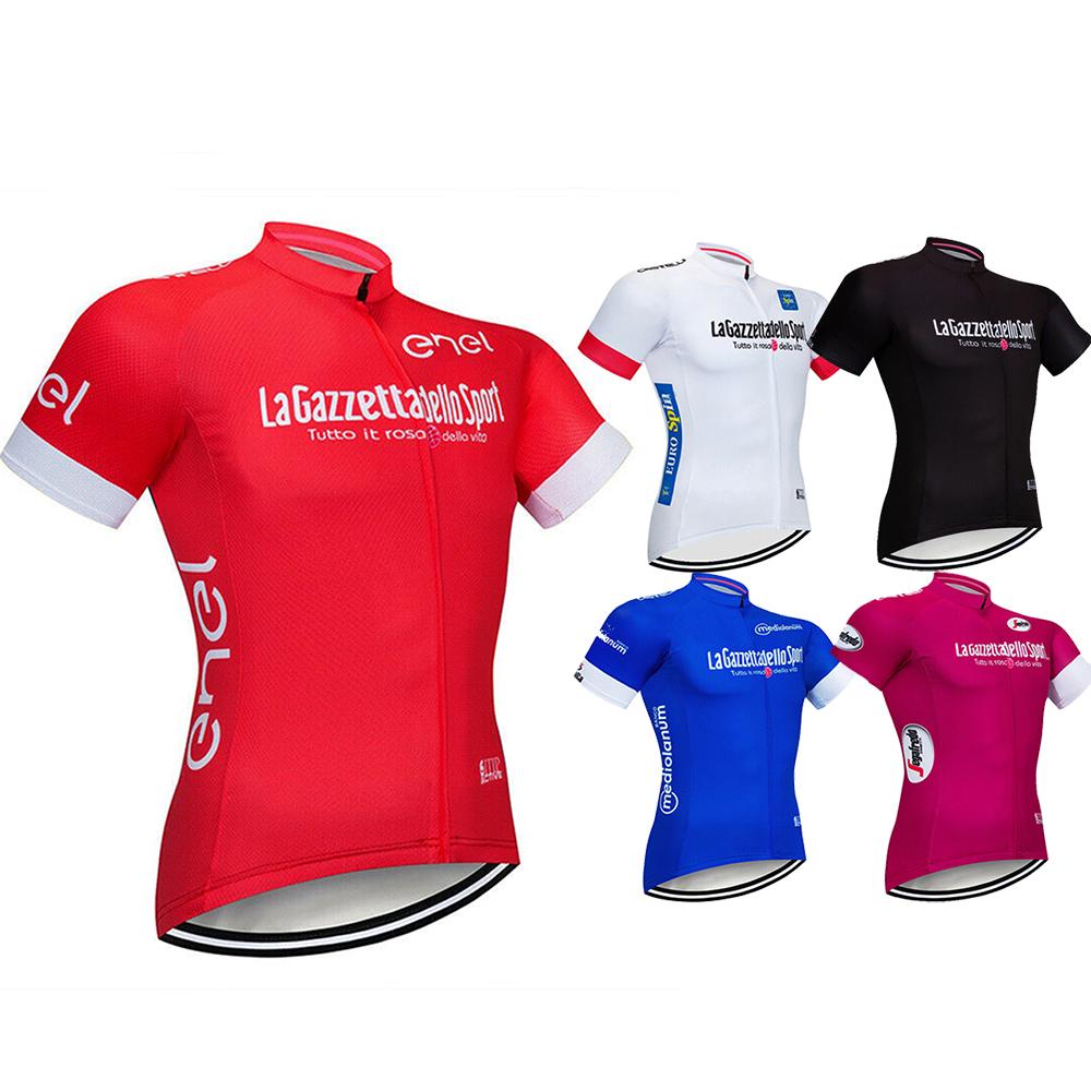 Mens Cycle Bicycle Shirt Jersey Bike Cycling Jerseys Tops Short Sleeve