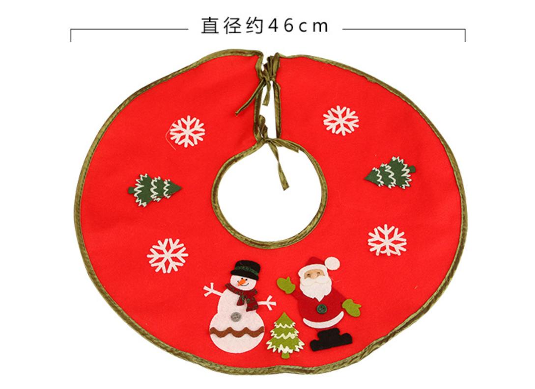 Christmas Tree Skirt Felt Apron Stands Base Cover Floor Mat Xmas Decoration UK