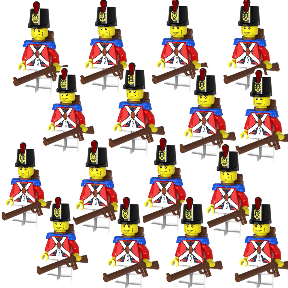 16//20x Royal Army Soldiers Imperial Guards Pirates Set Mini Figures Fit Lego Toy